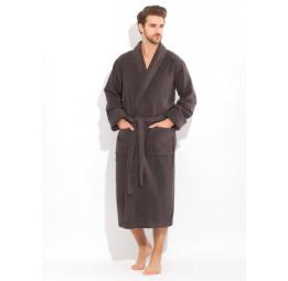 "Шикарный махровый халат из микро-коттона BRUTAL(PECHE MONNAIE France 920anthracite) - ""Толстый"" и плотный!"