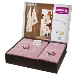 Набор шикарных махровых полотенец из бамбука Madam Laura - Хит продаж!(EA 5656violet Menekse)