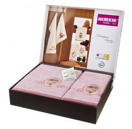 Набор шикарных махровых полотенец из бамбука Madam Laura - Хит продаж!(EA 5656lila Menekse)