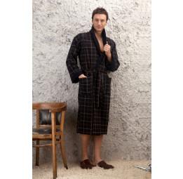 Мужской трикотажный халат Europe Black (PECHE MONNAIE France)