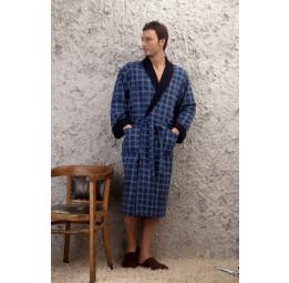 Мужской трикотажный халат Europe Blue (PECHE MONNAIE France)