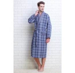 Мужской вафельный халат Gentelmen Style(E 10020 grey)