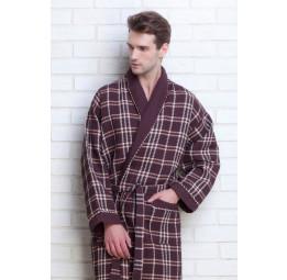 Мужской вафельный халат Gentelmen Style(E 10020 shoko)