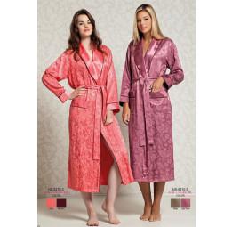 Женский атласный халат из бамбука Silk bamboo(9210)