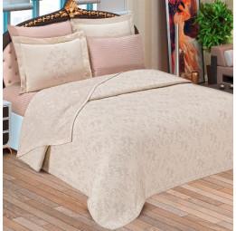 Шикарный комплект постельного белья в Европейском стиле ANGEL'S.  Покрывало, 4-е наволочки и простынь (EMD 1535)