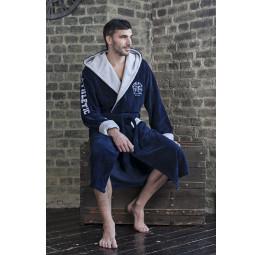 Спортивный бамбуковый халат - АТЛЕТИК(EF 123 синий)