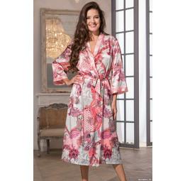 Классический шелковый халат в стиле кимоно Darina(EM 9789)