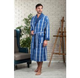 Легкий велюровый халат из бамбука KURT'S(EFW 220 indigo)