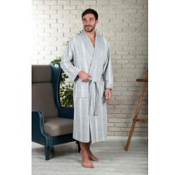 Легкий велюровый халат из бамбука KURT'S(EFW 220 silver)