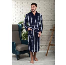Легкий велюровый халат из бамбука KURT'S(EFW 220 mavi)