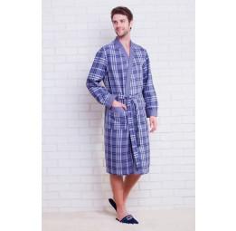 Вафельный халат Europe Style(E 10021 grey)