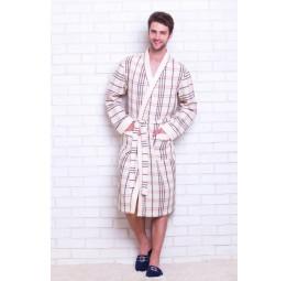 Вафельный халат Europe Style(E 10021 cream)
