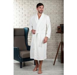 Облегченный велюровый халат VIP Persona (EFW 463 cream)
