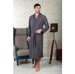 Облегченный велюровый халат VIP Persona(EFW 463 gray)