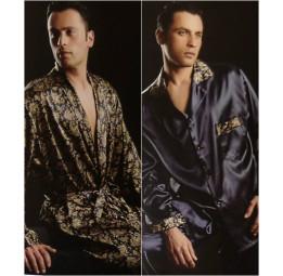 Шелковый набор для мужчин Leonardo Bordo(халат и пижамы)