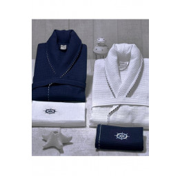 Набор для мужчин MARINE: Халат и 2-а полотенца. Подарочная коробка. (EMD)