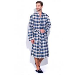 Сверхлегкий хлопковый халат Scotland №31(PECHE MONNAIE France 2117/2). В подарочной коробке.