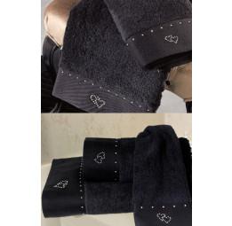 Эксклюзивное, шикарное махровое полотенце MAIA(EMD black). Подарочная упаковка