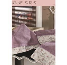 Набор махровых полотенец с стразами Roses (EMD) 3 шт.