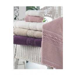 Набор махровых полотенец с кружевом SHAKIRA (EMD) 3 шт.