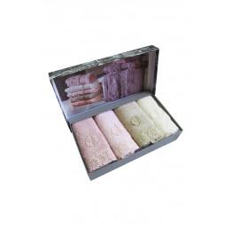 Набор махровых салфеток из бамбука с кружевом Intensive 4-е штуки (EMD)