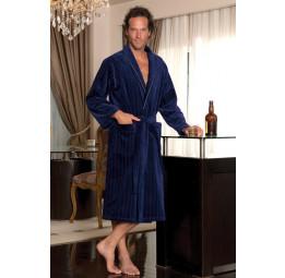 Махровый халат с велюром Sharp (ESC) Подарочная коробка.