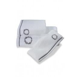 Махровое полотенце с вышивкой OLYMP Silver (ESC)