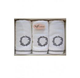 Махровые салфетки - полотенца с вышивкой OLYMP Silver (ESC)