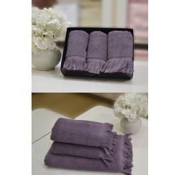 Набор махровых кухонных полотенец Future-purple (ESC)