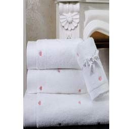 Нежное махровое полотенце Love 50x100 (ESC)