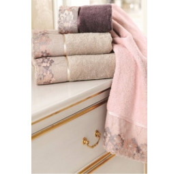 Махровое полотенце с кружевом Lalezar (ESC)