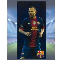 Полотенце махра-велюр F.C.Barcelona Iniesta (лицензионное)