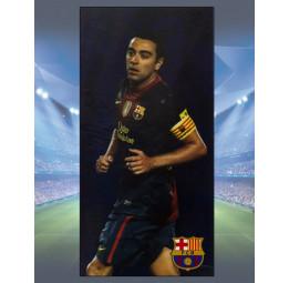 Полотенце махра-велюр F.C.Barcelona Xavi (лицензионное)