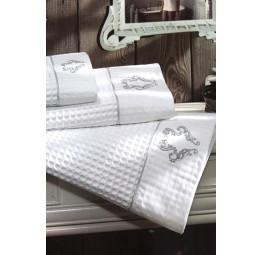 Набор вафельных полотенец с вышивкой Brice Apone (EMD) 3 шт.