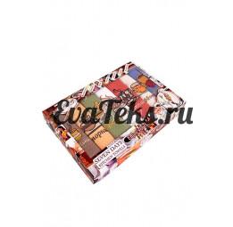 """Набор из 7-и вафельных полотенец """"Неделька Coffee""""(EA). Подарочная коробка"""