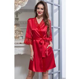 Шелковый халат-кимоно Flamenco-red (2087)