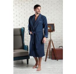 Облегченный мужской халат из бамбука Alanso-blue (EFW)