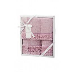 Набор махровых полотенец с гипюром Rosa (EMD) 3 шт.