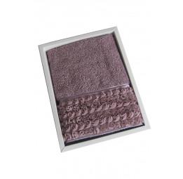 Махровое полотенце с бордюром из гипюровых розочек Rosa (EMD)