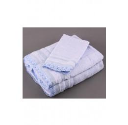 Набор махровых полотенец с кружевом Crochet (EMD) 3 шт.