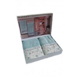 Набор махровых полотенец из бамбука Roses (ЕMD) 2 шт.