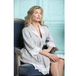 Бамбуковый женский халат Mirabella-silver (EFW)