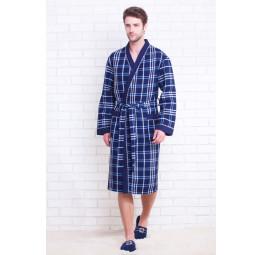 Вафельный халат Europe Style(E 10021 blue)