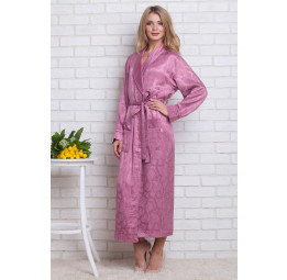 Женский атласный халат из бамбука Silk bamboo(9210 roses)