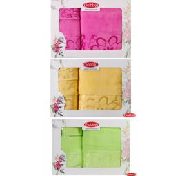 Набор пушистых махровых полотенец Dora (EA Hobby). Подарочная коробка.