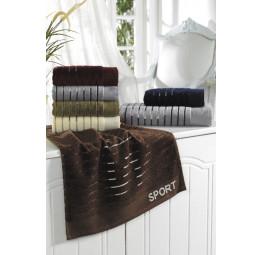Набор из 6-и махровых полотенец SPORT. Банный размер 70х140 см.