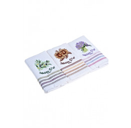 Набор вафельных полотенец Stripes-white (EMD) 50x70