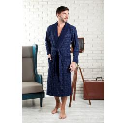 Облегченный велюровый халат VIP Persona(EFW 463 blue)