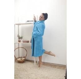 Женский халат из велсофта (800 бирюза)