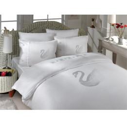 Комплект постельного белья Crystal Kugu (белый)